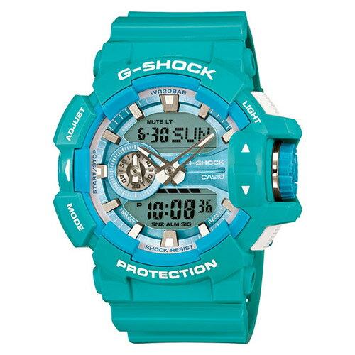 【EST O】G-Shock 雙顯 指針 繽紛 多層次錶盤 手錶 [GA-400A-2AJF] 蒂芬妮綠 F0327 0
