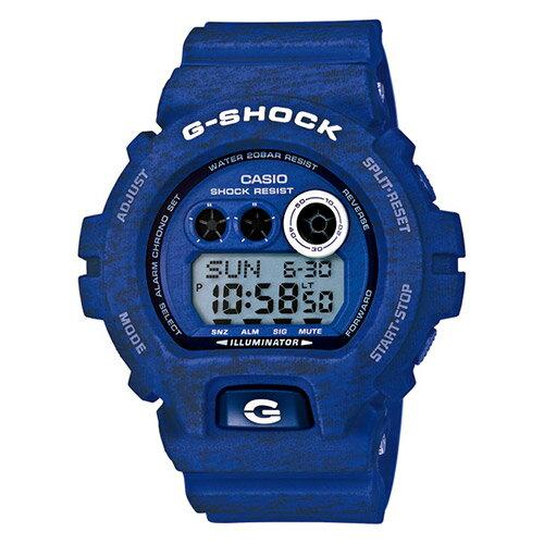 【EST O】G-Shock 日本限定 針織 木紋 大錶面 手錶 [GD-X6900HT-2JF] 藍 F0327 0