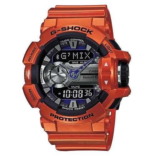 【EST O】G-Shock 雙顯 指針 智慧藍芽 低功耗 手錶 [GBA-400-4BJF] 橘 F0327 0
