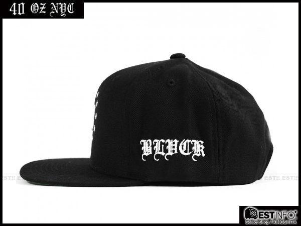 【EST】BLACK SCALE x 40oz NYC BLVCK SF BLACK SNAPBACK LOGO 星星 後扣帽 棒球帽 [FT-4014] 黑 E0303 2