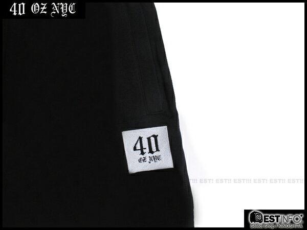 【EST】40OZ NYC 2014 SS 4035993 SWEATPANT 經典 LOGO 棉褲 長褲 [FT-4033-002] 黑 S~L E0430 2