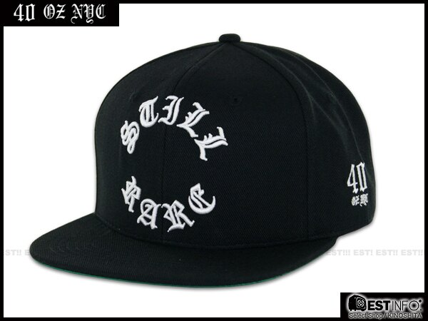 【EST】40OZ NYC 2014 FW STILL RARE 哥德字 棒球帽 [FT-5004] 黑 E1025 0