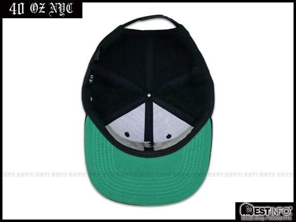 【EST】40OZ NYC 2014 FW STILL RARE 哥德字 棒球帽 [FT-5004] 黑 E1025 1