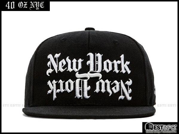 【EST】40OZ NYC 2014 FW DISHONOR CAP 哥德字 棒球帽 [FT-5006] 黑 E1025 0