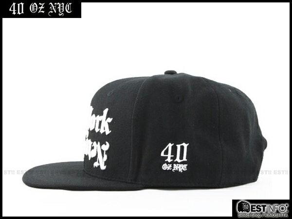 【EST】40OZ NYC 2014 FW DISHONOR CAP 哥德字 棒球帽 [FT-5006] 黑 E1025 1