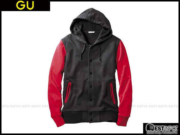 【EST】Uniqlo × G.U. 2013 Fw Gu 男款 連帽 棒球 外套 [ Gu-2099 / 231235 ] 灰/黑/藍 S~Xl D0909 2