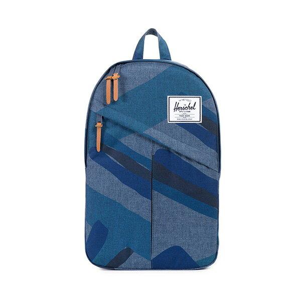 【EST】HERSCHEL PARKER 斜拉鍊 15吋電腦包 後背包 水墨 藍 [HS-0003-705] F0421 0