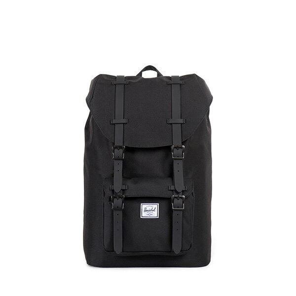 【EST】HERSCHEL LITTLE AMERICA MID 中款 13吋電腦包 後背包 全黑 [HS-0020-155] F0421 0