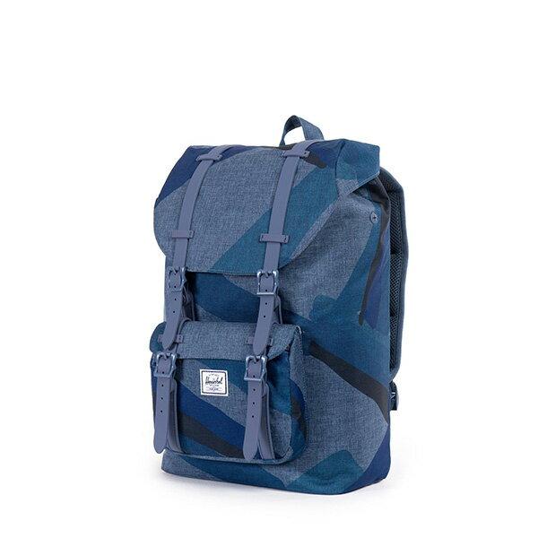 【EST】HERSCHEL LITTLE AMERICA MID 中款 13吋電腦包 後背包 水墨 藍 [HS-0020-705] F0421 2