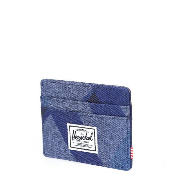 【EST】HERSCHEL CHARLIE 橫式 卡夾 名片夾 證件套 水墨 藍 [HS-0045-705] F0429 2
