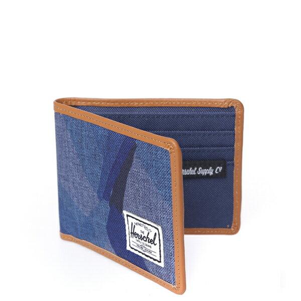 【EST】HERSCHEL TAYLOR WALLET 皮夾 短夾 錢包 滾邊 水墨 藍 [HS-0198-705] F0429 1