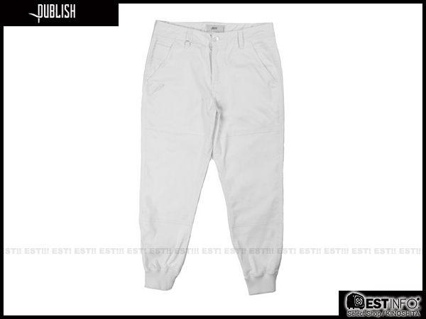 【EST】PUBLISH LEGACY JOGGER PANTS WHITE 長褲 工作褲 束口褲 [PL-4049-001] 白色 W28~36 F0206 2