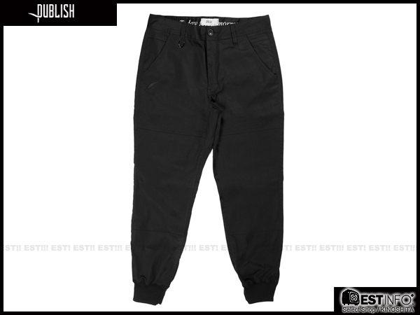 【EST】PUBLISH LEGACY JOGGER PANTS BLACK 防潑水 長褲 工作褲 束口褲 [PL-4049-002] 黑 W28~36 F1211 1