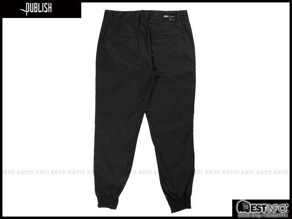 【EST】PUBLISH LEGACY JOGGER PANTS BLACK 防潑水 長褲 工作褲 束口褲 [PL-4049-002] 黑 W28~36 F1211 2