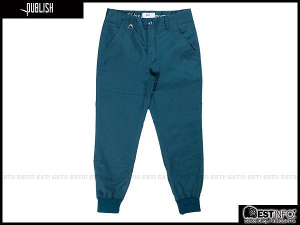 【EST】PUBLISH LEGACY JOGGER PANTS OCEAN 防潑水 長褲 工作褲 束口褲 [PL-4049-085] 藍綠 W28~36 F0206 1