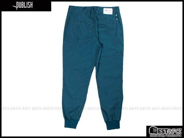 【EST】PUBLISH LEGACY JOGGER PANTS OCEAN 防潑水 長褲 工作褲 束口褲 [PL-4049-085] 藍綠 W28~36 F0206 2