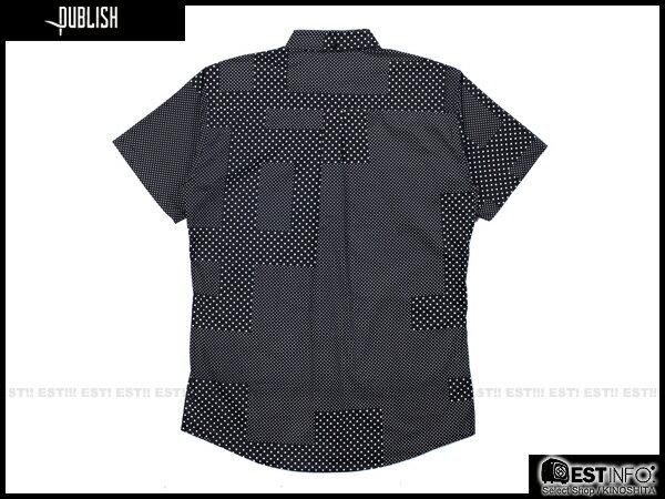 【EST】PUBLISH ELIAS SHIRT 刺繡 羽毛 拼接 點點 短袖 襯衫 [PL-5009-002] 黑 W28~34 E0617 1