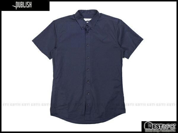 【EST】PUBLISH ELIAS SHIRT 刺繡 羽毛 拼接 點點 短袖 襯衫 [PL-5009-086] 深藍 S~L E0617 0
