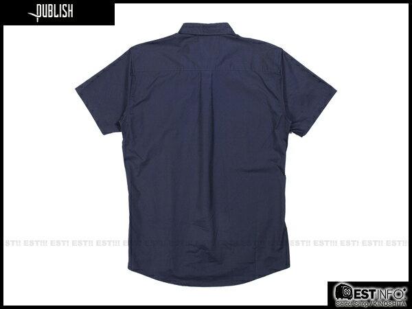 【EST】PUBLISH ELIAS SHIRT 刺繡 羽毛 拼接 點點 短袖 襯衫 [PL-5009-086] 深藍 S~L E0617 1