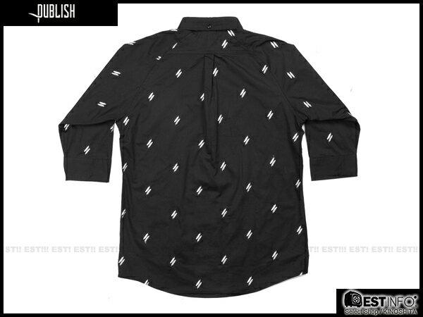 【EST】Publish Eden Shirt 羽毛 印花 七分袖 襯衫 [PL-5011-002] 黑色 S~L E0617 1