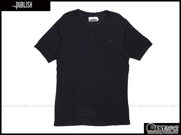 【EST】PUBLISH BLAINE TEE 口袋 羽毛 LOGO 混紗 透氣 短TEE [PL-5020-002] 黑 S~L E0617 0