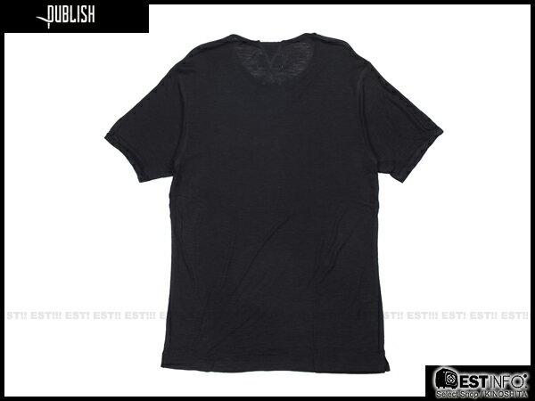 【EST】PUBLISH BLAINE TEE 口袋 羽毛 LOGO 混紗 透氣 短TEE [PL-5020-002] 黑 S~L E0617 1
