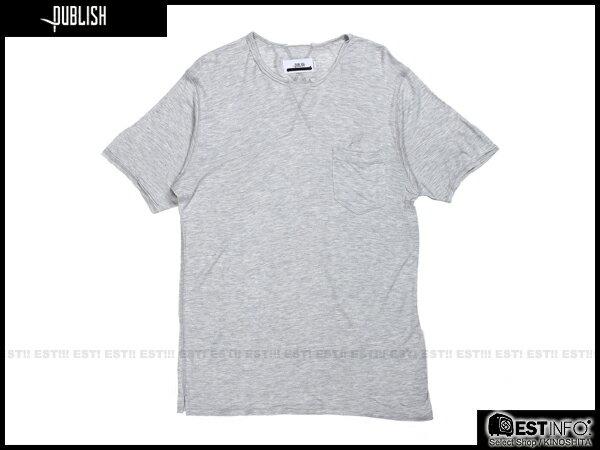 【EST】PUBLISH BLAINE TEE 口袋 羽毛 LOGO 混紗 透氣 短TEE [PL-5020-007] 灰 S~L E0617 0