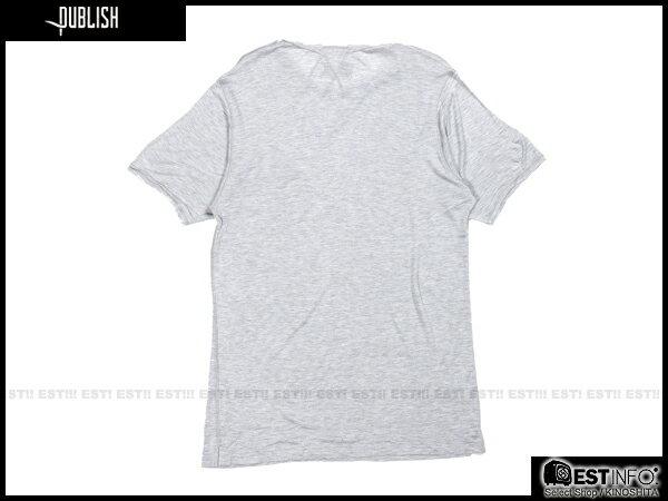 【EST】PUBLISH BLAINE TEE 口袋 羽毛 LOGO 混紗 透氣 短TEE [PL-5020-007] 灰 S~L E0617 1