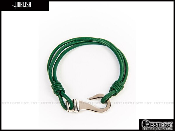 【EST】Publish Tilden 經典 編織 皮革 問號勾 手環 [Pl-5044] 咖啡/紅/綠 E0711 0
