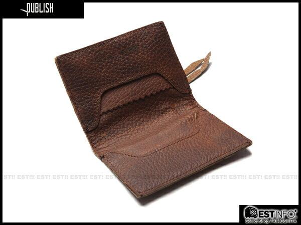 【EST】PUBLISH LAWLEY 經典 仿舊 皮革 拉鍊 零錢包 卡夾 證件夾 [PL-5050-052] 咖啡 E0711 0
