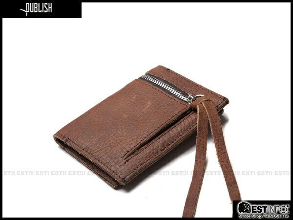 【EST】PUBLISH LAWLEY 經典 仿舊 皮革 拉鍊 零錢包 卡夾 證件夾 [PL-5050-052] 咖啡 E0711 1
