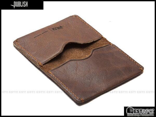 【EST】Publish Cabosy 經典 仿舊 皮革 鈔票 卡夾 證件夾 [Pl-5051] 黑/咖啡 E0711 0