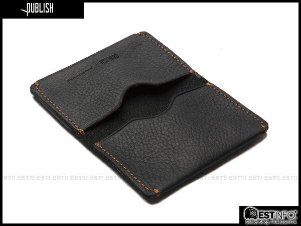 【EST】Publish Cabosy 經典 仿舊 皮革 鈔票 卡夾 證件夾 [Pl-5051] 黑/咖啡 E0711 1