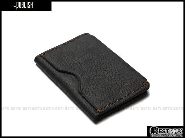 【EST】Publish Cabosy 經典 仿舊 皮革 鈔票 卡夾 證件夾 [Pl-5051] 黑/咖啡 E0711 2