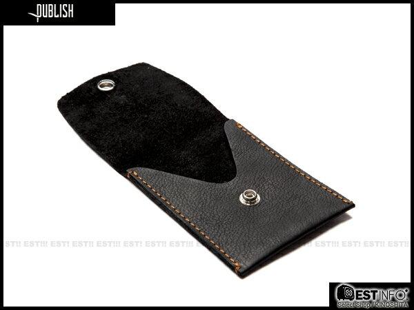 【EST】Publish Berwyn 經典 仿舊 皮革 卡夾 零錢包 小物 [Pl-5053] 黑/咖啡 E0711 1