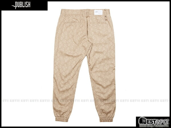 【EST】PUBLISH NOVELTY JOGGER PANTS CLOVER 圖騰 工作褲 長褲 束口褲 [PL-5059-537] 卡其 W28~W34 E0819 1