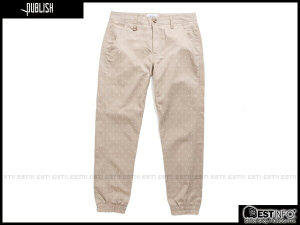 【EST】PUBLISH NOVELTY JOGGER PANTS NATO 點點 工作褲 束口褲 [PL-5062-065] 褐 W28~W34 E0819 0