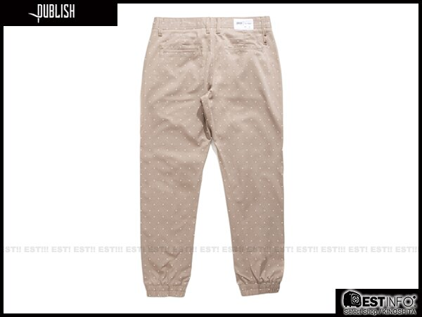 【EST】PUBLISH NOVELTY JOGGER PANTS NATO 點點 工作褲 束口褲 [PL-5062-065] 褐 W28~W34 E0819 1