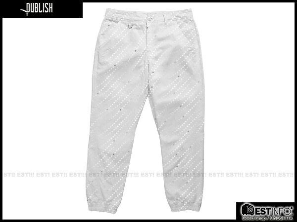 【EST】PUBLISH FLOYD JOGGER 束口褲 [PL-5069-001] 白 W28~W36 E0912 - 限時優惠好康折扣