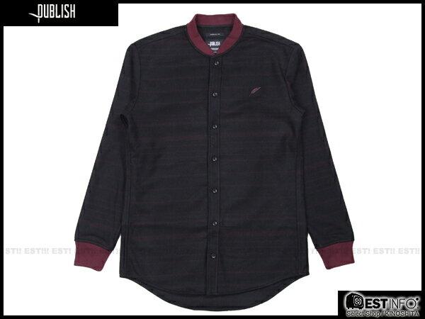 【EST】PUBLISH WESS 民族風 厚磅 針織 襯衫 外套 [PL-5071-072] 酒紅 S~L E0912 0