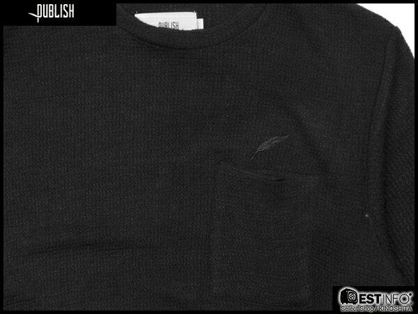 【EST】PUBLISH SETH TEE 洞洞 針織 短TEE [PL-5076-002] 黑 S~L E0912 2