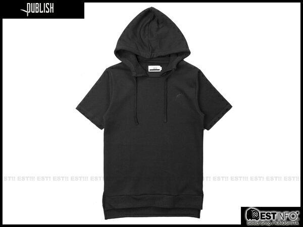 【EST】PUBLISH ASH TEE 連帽 帽TEE [PL-5080-002] 黑 S~XL E0912 0
