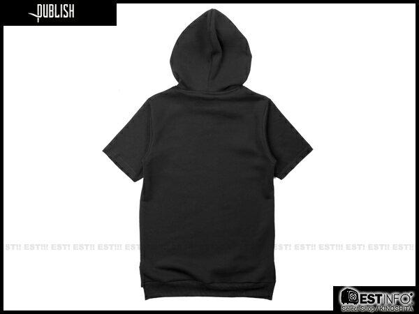【EST】PUBLISH ASH TEE 連帽 帽TEE [PL-5080-002] 黑 S~XL E0912 1