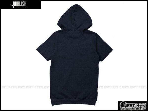 【EST】Publish Ash Tee 連帽 帽tee [PL-5080-086] 深藍 S~Xl E0912 1