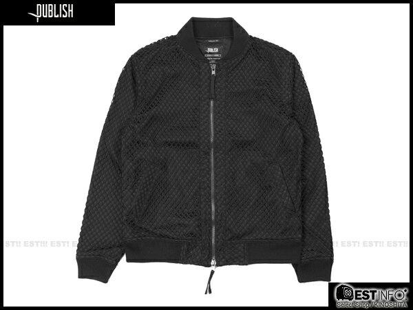 【EST】PUBLISH MILLO 洞洞 拼接 夾克 外套 [PL-5083-002] 黑 S~XL E0912 0