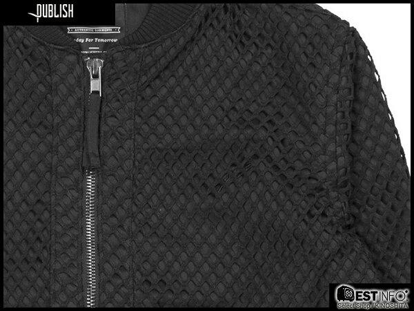 【EST】PUBLISH MILLO 洞洞 拼接 夾克 外套 [PL-5083-002] 黑 S~XL E0912 2