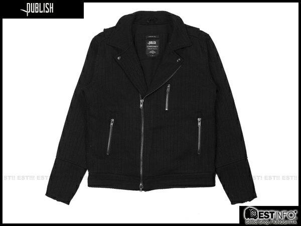 【EST】PUBLISH RYDER 厚磅 拉鍊 夾克 外套 [PL-5084-002] 黑 S~XL E0912 0