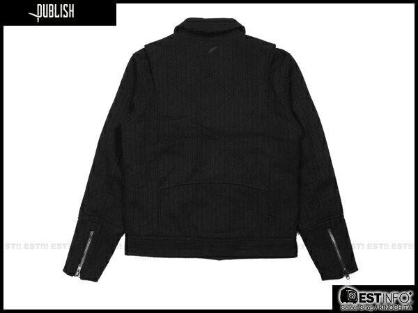 【EST】PUBLISH RYDER 厚磅 拉鍊 夾克 外套 [PL-5084-002] 黑 S~XL E0912 1