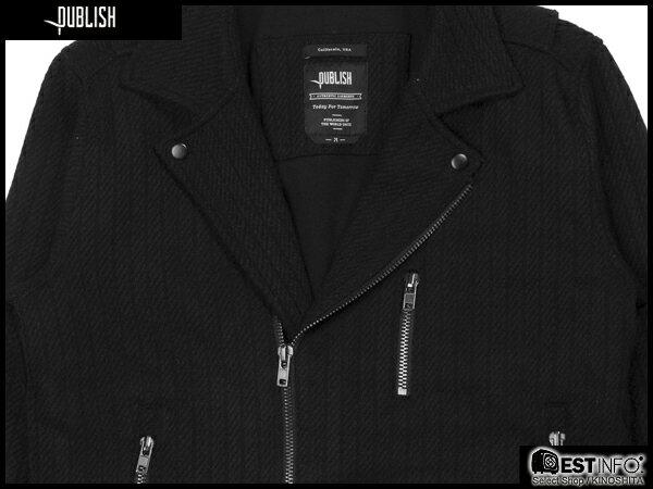 【EST】PUBLISH RYDER 厚磅 拉鍊 夾克 外套 [PL-5084-002] 黑 S~XL E0912 2