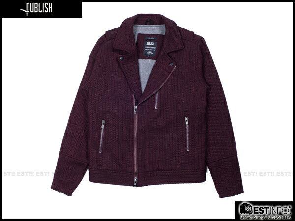 【EST】PUBLISH RYDER 厚磅 拉鍊 夾克 外套 [PL-5084-072] 酒紅 S~XL E0912 0